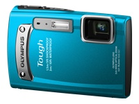 Olympus Tough TG-320 - Digital camera - 3D - compact - 14.0 Mpix - 3.6 x optical zoom 19.5 MB - blue